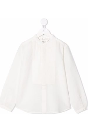BONPOINT Ribbed-panel long-sleeves blouse