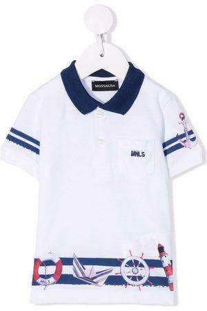 MONNALISA Striped cotton polo shirt