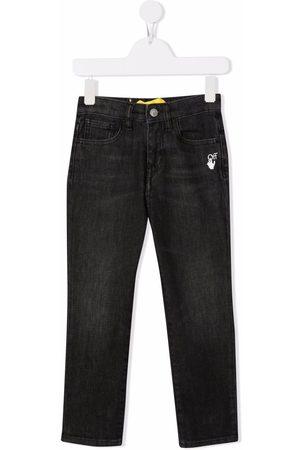 OFF-WHITE Meisjes Slim - Slim-Diag logo-print jeans