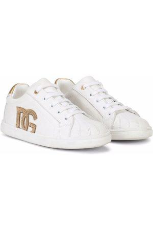 Dolce & Gabbana Meisjes Sneakers - DG logo leather sneakers