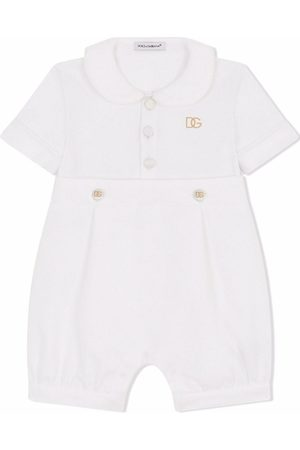 Dolce & Gabbana Rompertjes - Embroidered logo short-sleeve romper