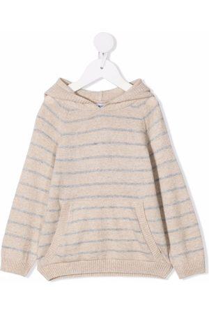 KNOT Jongens Hoodies - Striped knit hoodie