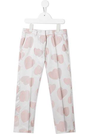 Stella McCartney Meisjes Broeken - Heart-print tailored trousers