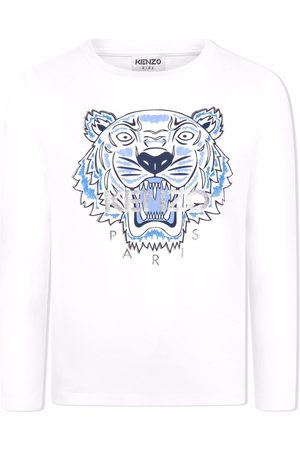 Kenzo TEEN long-sleeved tiger logo top