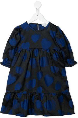 Stella McCartney Meisjes Feestjurken - Heart-print empire-line dress
