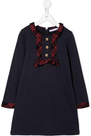 PATACHOU Meisjes Casual jurken - Checked-trim bow-detail dress