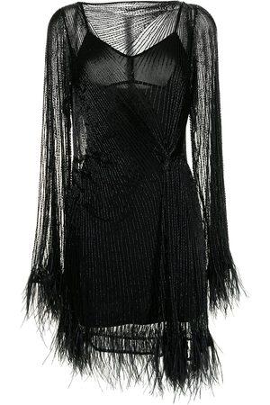RACHEL GILBERT Dames Feestjurken - Feather-trimmed dress