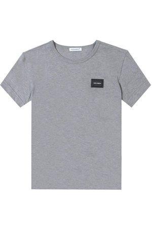 Dolce & Gabbana Kids Embossed Logo T-Shirt Grey - GREY 10 YEARS