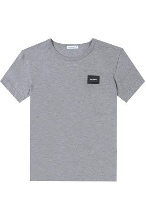 Dolce & Gabbana Kids Embossed Logo T-Shirt Grey - GREY 8 YEARS
