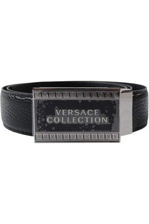 VERSACE Logo Plaque Belt - BLACK 36