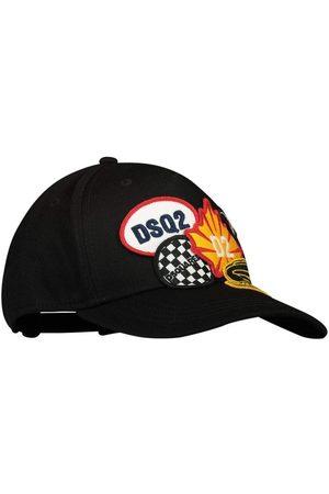Dsquared2 Kids Badge Logo Cap Black - BLACK II (8-10 YEARS)
