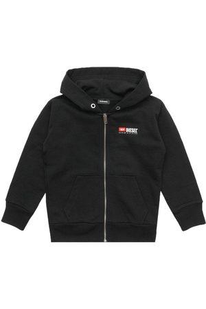 Diesel Boys Cotton Logo Hoodie Black - BLACK 12+ YEARS