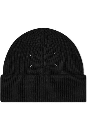 Maison Margiela Knitted Beanie - BLACK SMALL