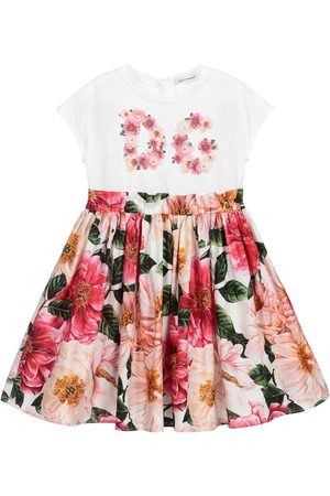 Dolce & Gabbana Girls Flower Dress - 8 YEARS MULTI-COLOURED