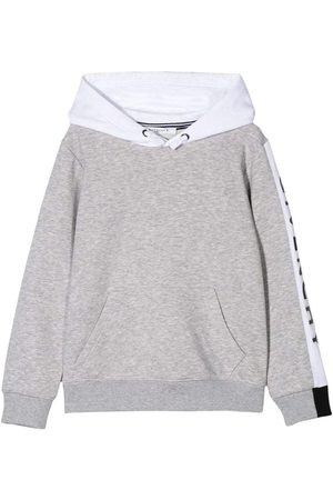 Givenchy Kids Arm Logo Hoodie - GREY 14 YEARS