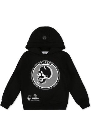 Philipp Plein Jongens Sweaters - Kids Iconic Skull Sweater - BLACK 16 YEARS