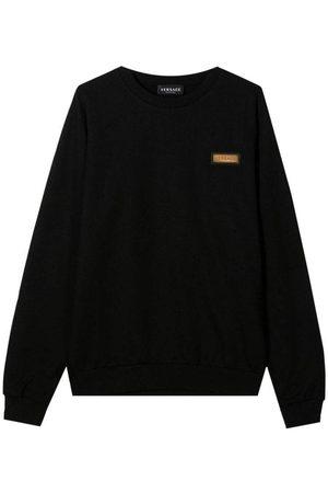 VERSACE Jongens Sweaters - Cotton Sweater - BLACK 12 YEARS