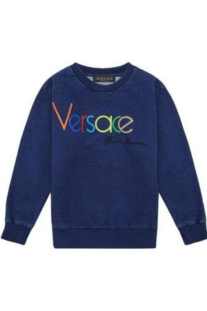 VERSACE Jongens Sweaters - Embroidered Sweater - BLUE 2 YEARS