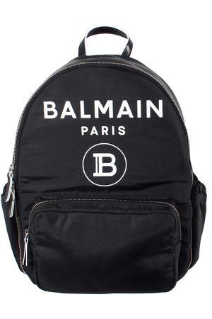 Balmain Kids Logo Backpack Black - BLACK ONE SIZE