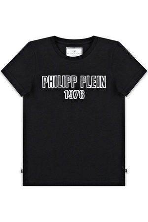 Philipp Plein Jongens T-shirts - Logo T-Shirt - BLACK 10 YEARS
