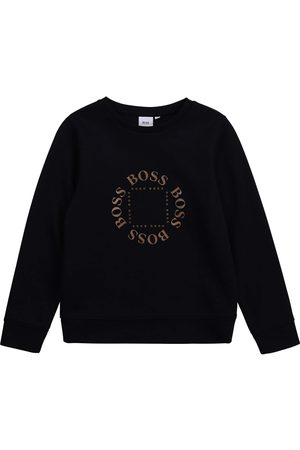 HUGO BOSS Jongens Sweaters - Boss Logo Sweater - NAVY 6 YEARS