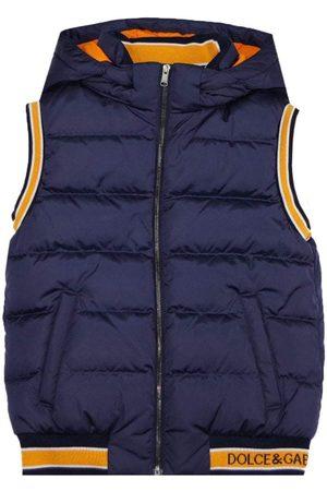 Dolce & Gabbana Kids Nylon Hooded Gilet Navy - NAVY 12 YEARS