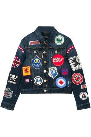 Dsquared2 Kids Denim Badge Jacket Blue - BLUE 10 YEARS