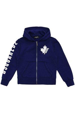 Dsquared2 Kids Maple Leaf Logo Hoodie Blue - BLUE 10 YEARS