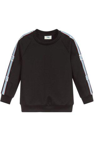 Fendi Jongens Sweaters - Kids Arm Logo Neoprene Sweatshirt - BLACK 10 YEARS
