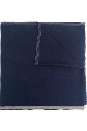 Brunello Cucinelli Heren Sjaals - Contrasting-edge frayed scarf