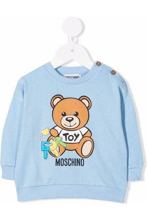 Moschino Sweaters - Teddy bear logo-print sweatshirt