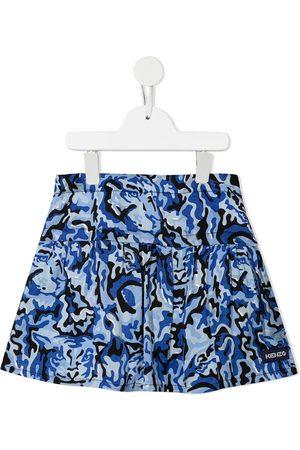 Kenzo Meisjes Geprinte rokken - Camouflage-print pleated mini skirt