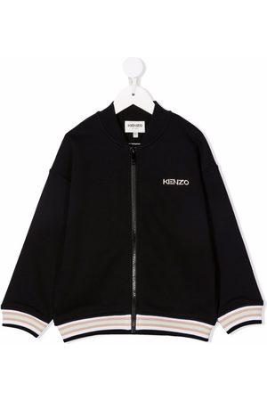 Kenzo Jongens Bomberjacks - Logo embroidered bomber jacket