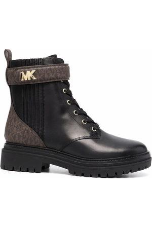 Michael Kors Monogram-print combat boots