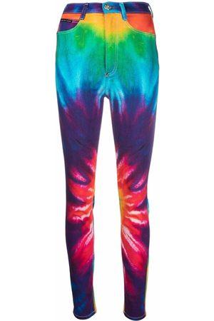 Philipp Plein Tie dye print skinny jeans