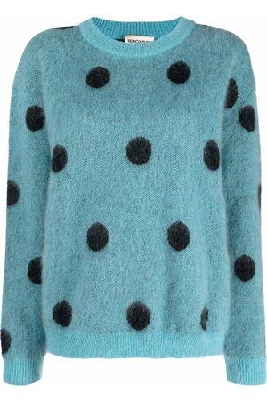 SEMICOUTURE Dames Gebreide truien - Bold polka dot jumper