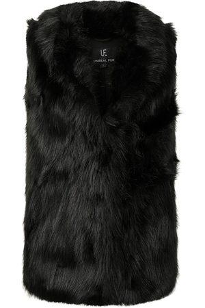 Unreal Fur Dames Bodywarmers - Rose premium faux fur gilet