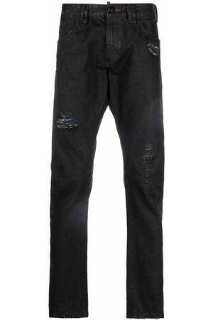 Philipp Plein Heren Skinny - Distressed skinny-cut jeans