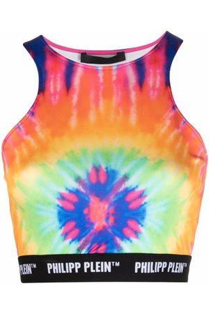 Philipp Plein Dames Tanktops - Tie dye-print cropped top