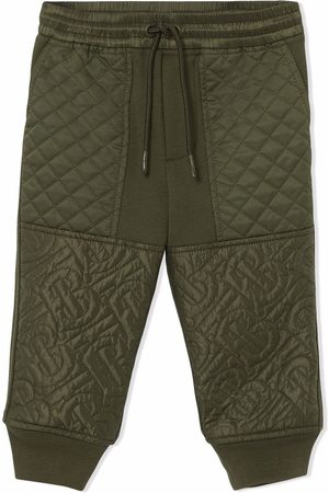 Burberry Monogram quilted track pants