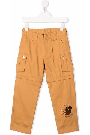 Mini Rodini Embroidered-logo cargo trousers