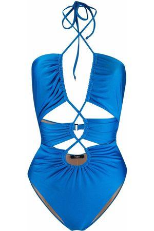 Noire Swimwear Dames Monokini's - Gathered cut-out swimsuit