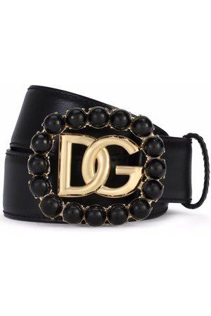 Dolce & Gabbana Leather DG-logo buckle belt