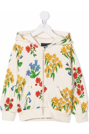 Mini Rodini Snow Flowers hoodie