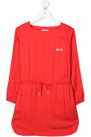 HUGO BOSS Meisjes Casual jurken - Embroidered-logo dress