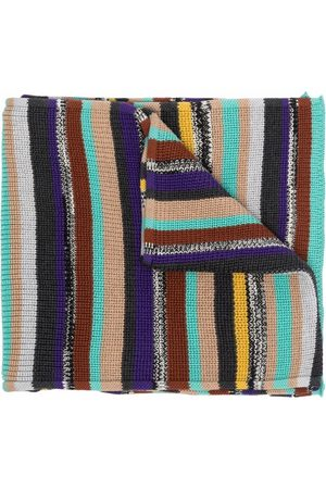 Missoni Heren Sjaals - Knitted striped scarf