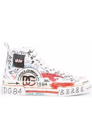 Dolce & Gabbana Heren Sneakers - Portofino Light graffiti-print sneakers