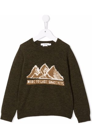 BONPOINT Jongens Sweaters - Slogan-print long-sleeved sweater