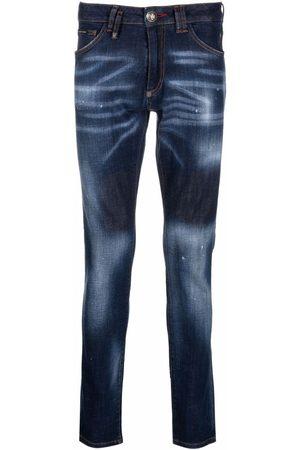 Philipp Plein Iconic distressed slim-fit jeans