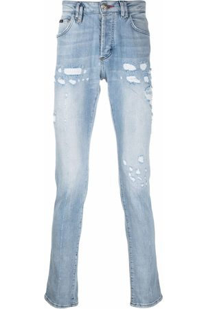 Philipp Plein Super Straight stonewash distressed jeans